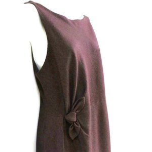 Robert Rodriguez Shift Dress Wool Waist Bow 12